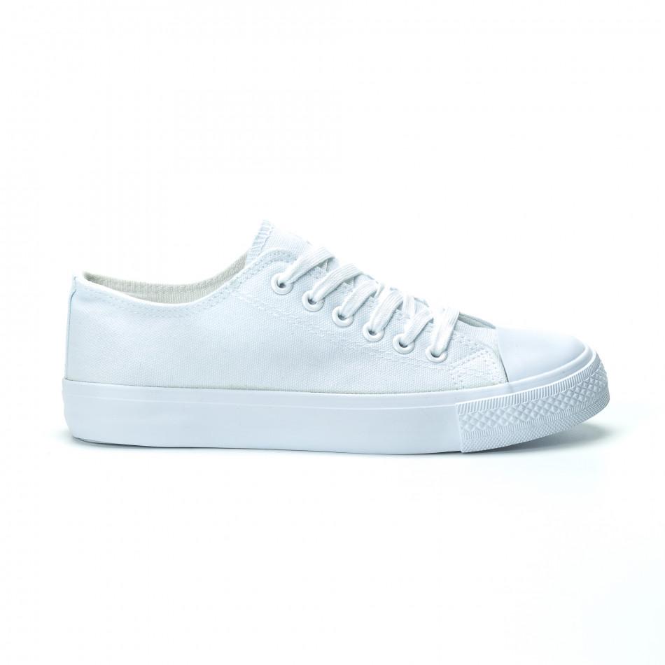 Fashionmix Γυναικεία λευκά sneakers 1166d2b18e7