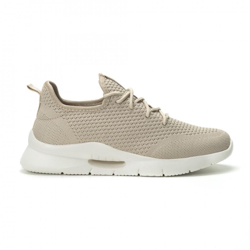 af2733f53bfb Ανδρικά μπεζ αθλητικά παπούτσια Hole design ελαφρύ μοντέλο