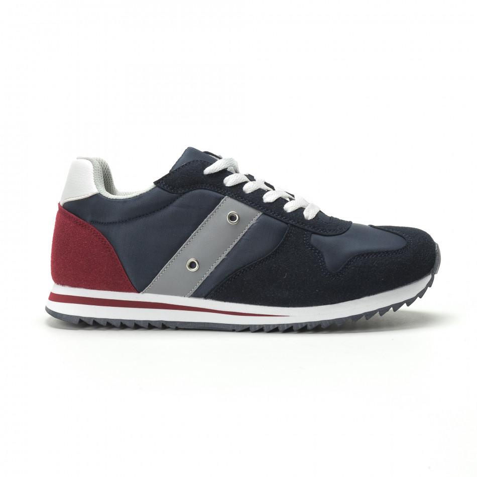 bccde51f833 Ανδρικά μπλε αθλητικά παπούτσια κλασικό μοντέλο. Λεπτομέρειες Αγορά