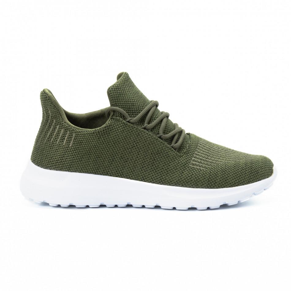 Ανδρικά πράσινα αθλητικά παπούτσια ελαφρύ μοντέλο