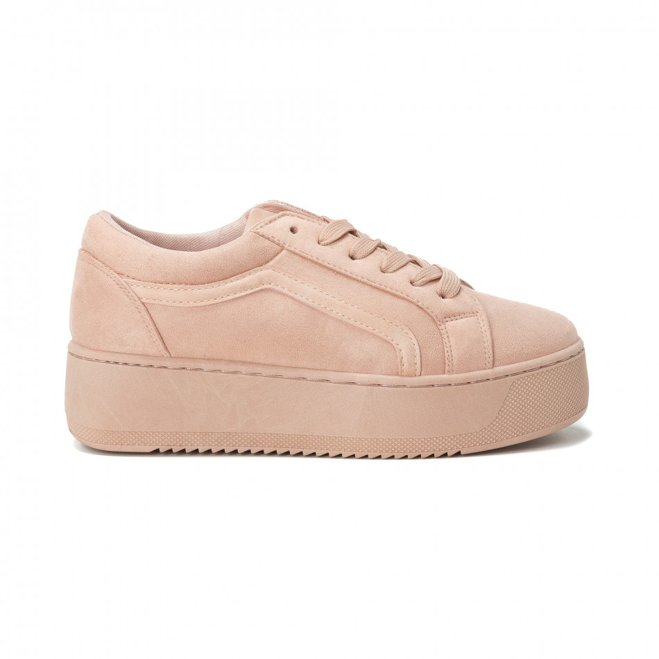 -40% Fashionmix Γυναικεία ροζ All pink sneakers με πλατφόρμα 9626cbd85b3