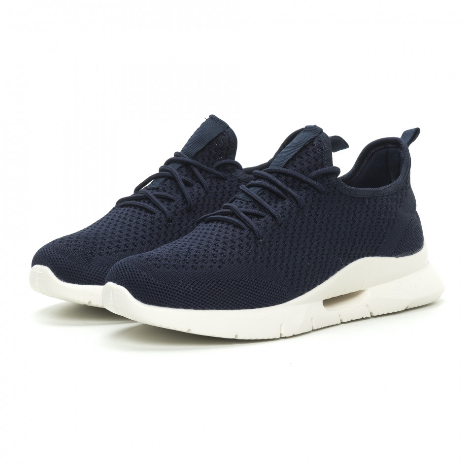 170fb4407dc Ανδρικά μπλε αθλητικά παπούτσια ελαφρύ μοντέλο Hole design