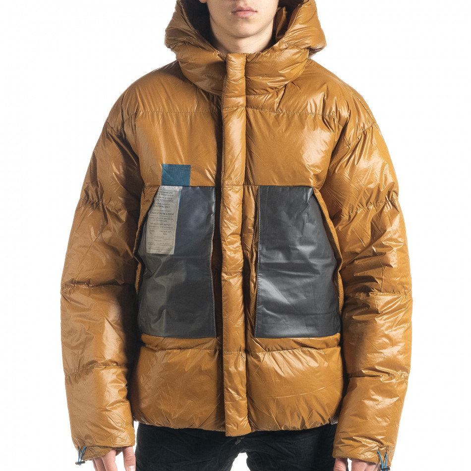 Ανδρικό χειμωνιάτικο μπουφάν με μεγάλες τσέπες
