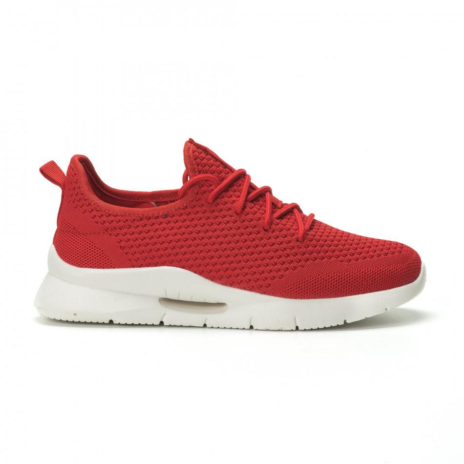 2a662ee9a3f Ανδρικά κόκκινα αθλητικά παπούτσια Hole design ελαφρύ μοντέλο