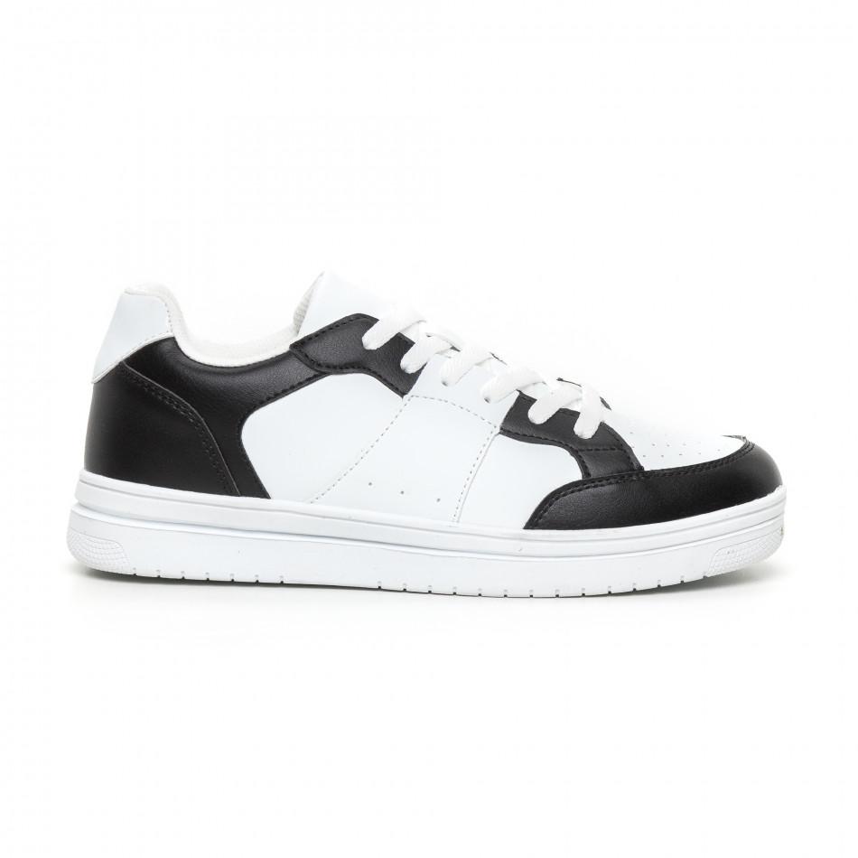 Ανδρικά skate sneakers σε λευκό και μαύρο