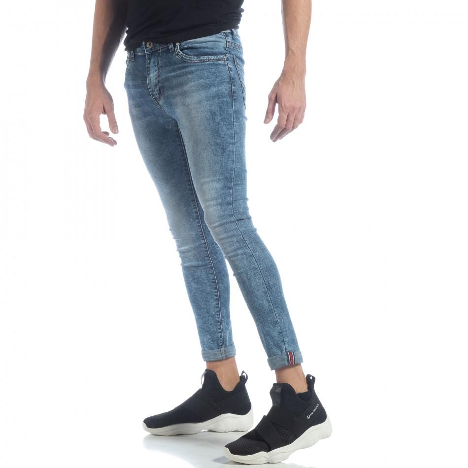 Ανδρικό γαλάζιο τζιν Skinny Washed Jeans