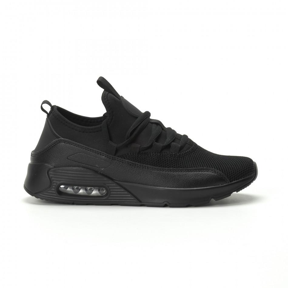 Ανδρικά μαύρα αθλητικά παπούτσια Air ελαφρύ μοντέλο