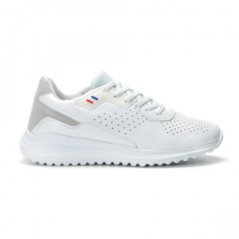 Ανδρικά λευκά αθλητικά παπούτσια ελαφρύ μοντέλο
