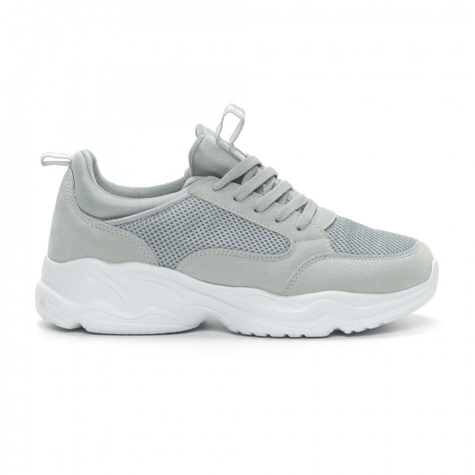 Ανδρικά γκρι αθλητικά παπούτσια Crucian