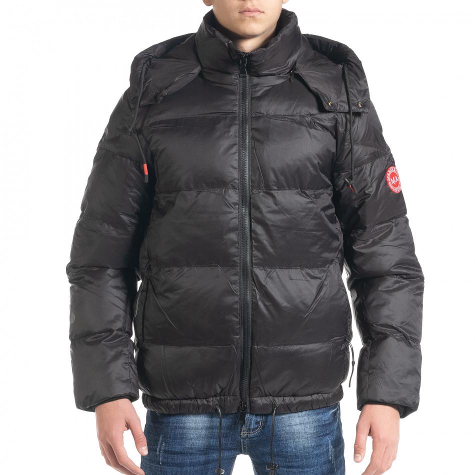 Ανδρικό μαύρο χειμωνιάτικο μπουφάν Marshall Angel