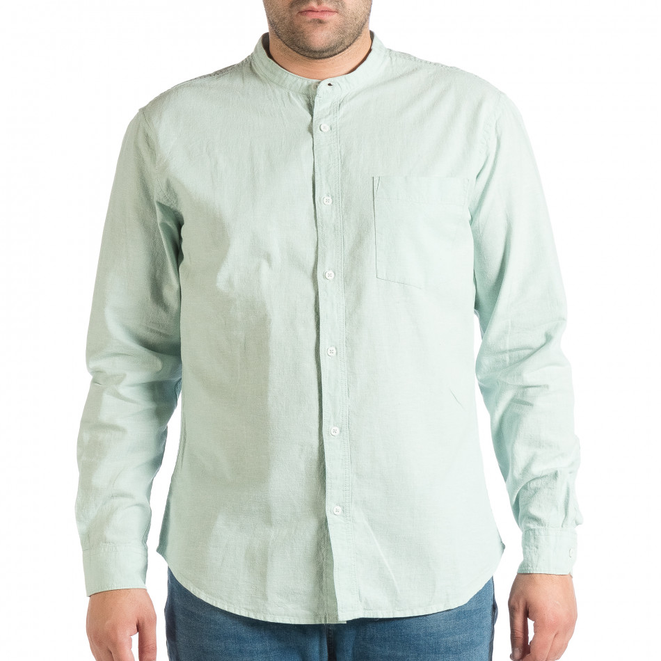 ff1606291a02 Ανδρικό πράσινο πουκάμισο RESERVED