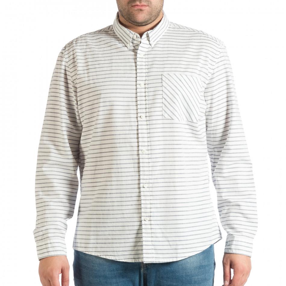 e823f0815443 Ανδρικό λευκό πουκάμισο RESERVED