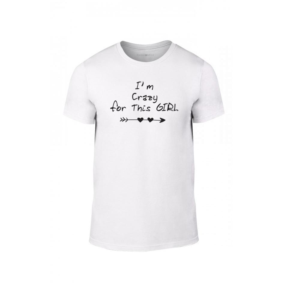 Κοντομάνικη μπλούζα Crazy in love λευκό Χρώμα Μέγεθος S