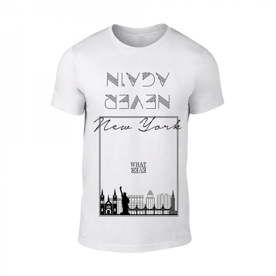 Κοντομάνικη μπλούζα NY λευκό