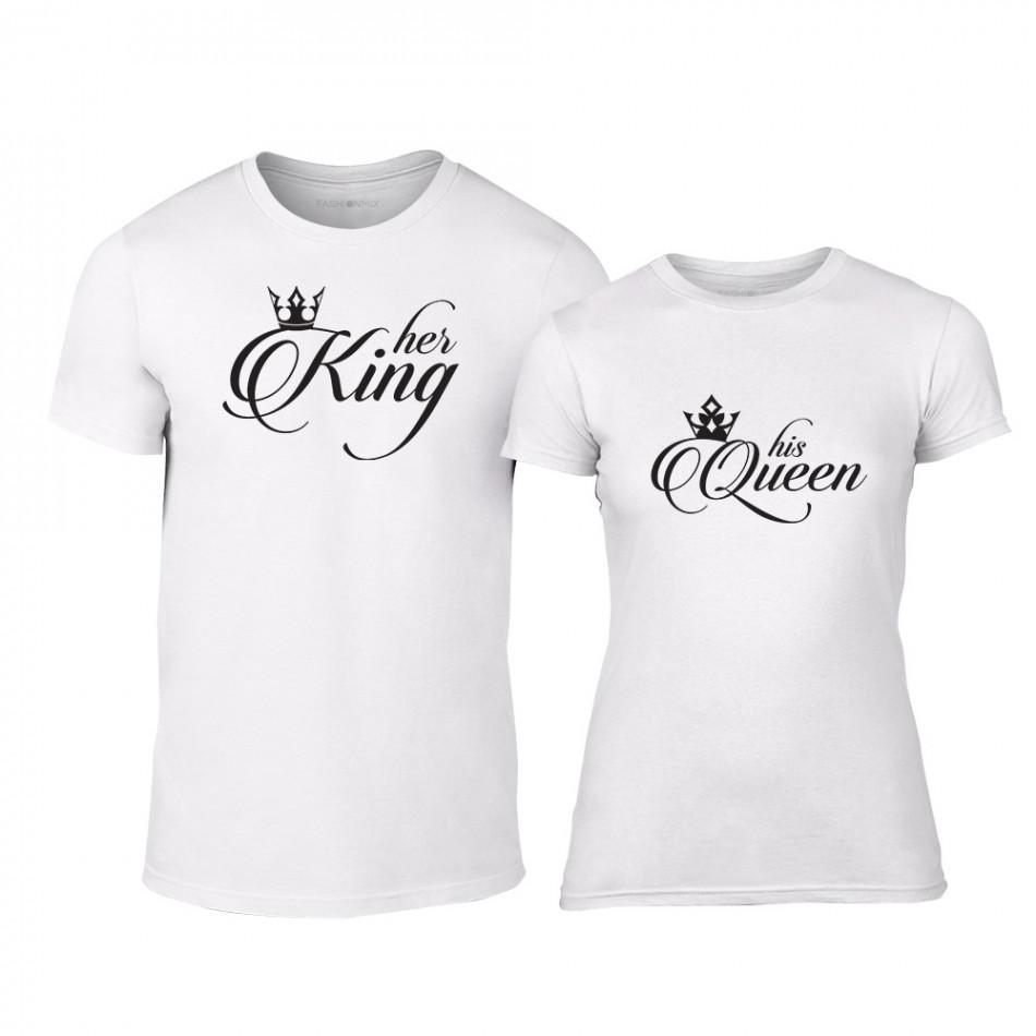 b21b00dc465a Μπλουζες για ζευγάρια King   Queen λευκό
