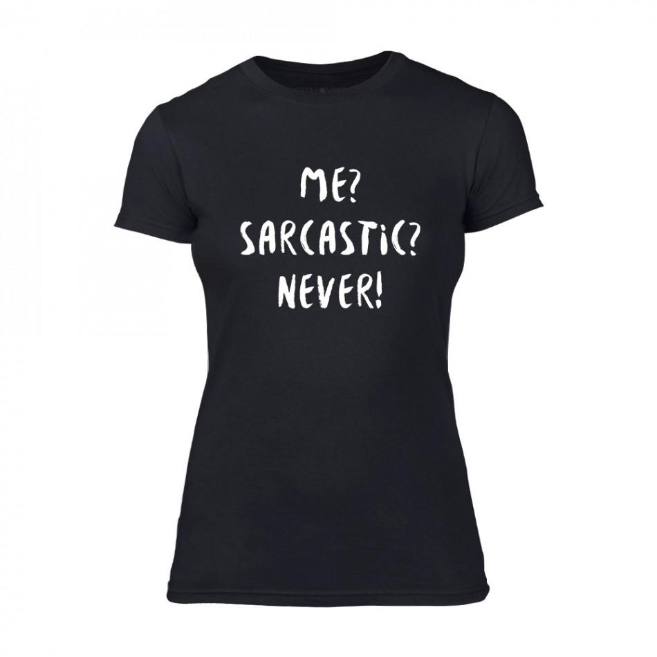 Γυναικεία Μπλούζα Sarcastic μαύρο