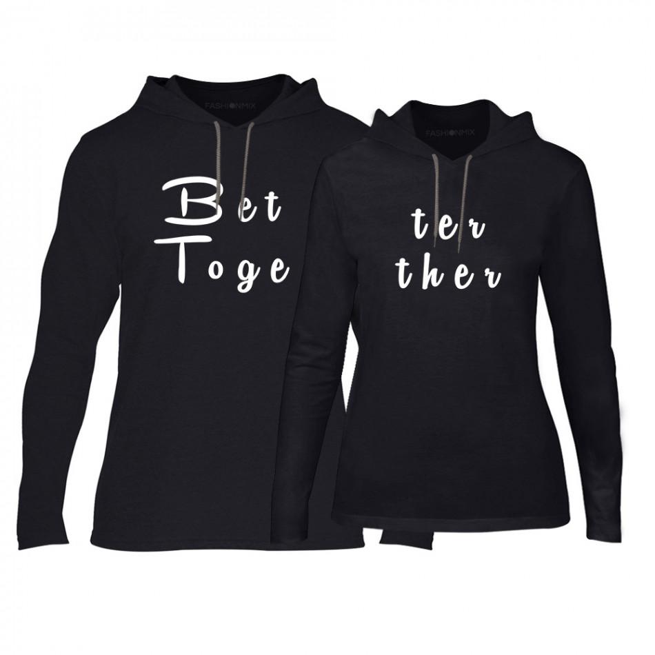 4a1a70664680 Φούτερ για ζευγάρια Better Together μαύρο