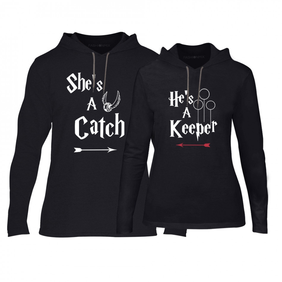 7346e4ff2a34 Φούτερ για ζευγάρια Catch Keeper μαύρο