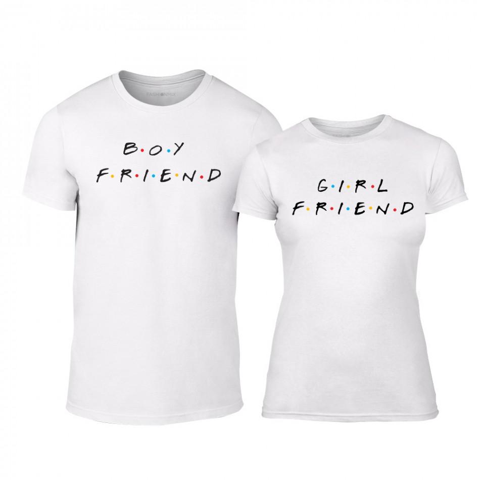 Μπλουζες για ζευγάρια Boyfriend & Girlfriend λευκό