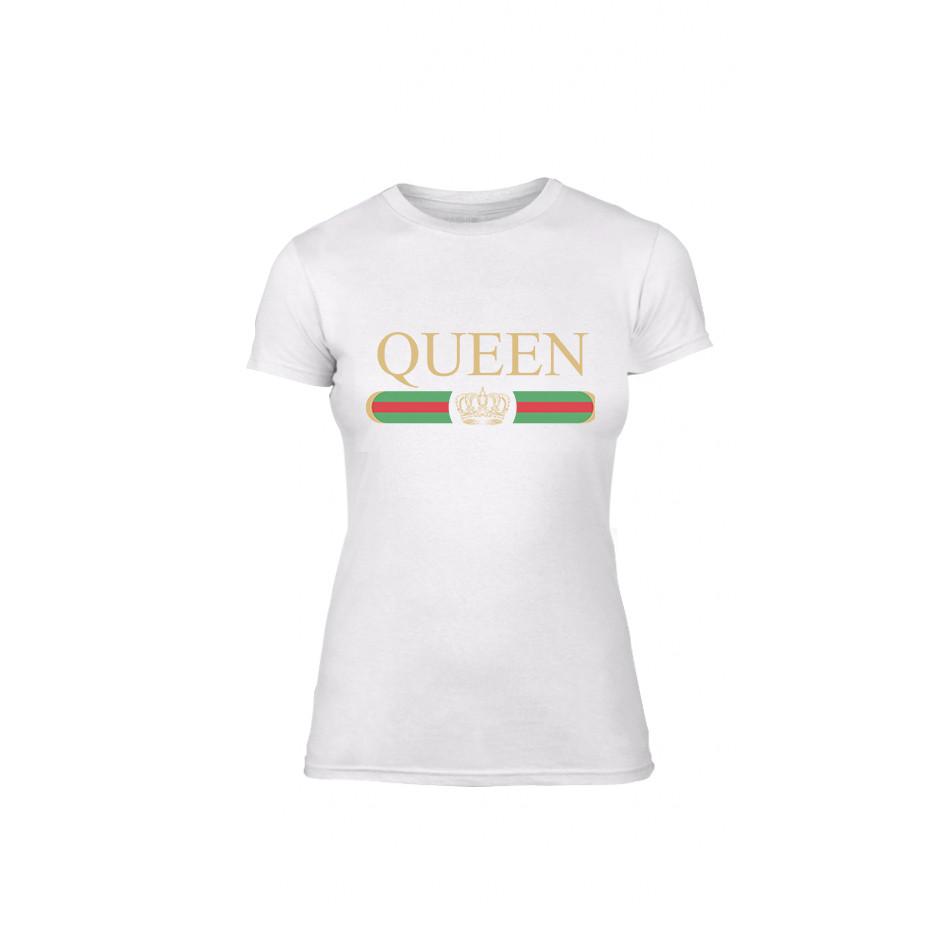 Γυναικεία Μπλούζα Fashion King Queen λευκό Χρώμα Μέγεθος S
