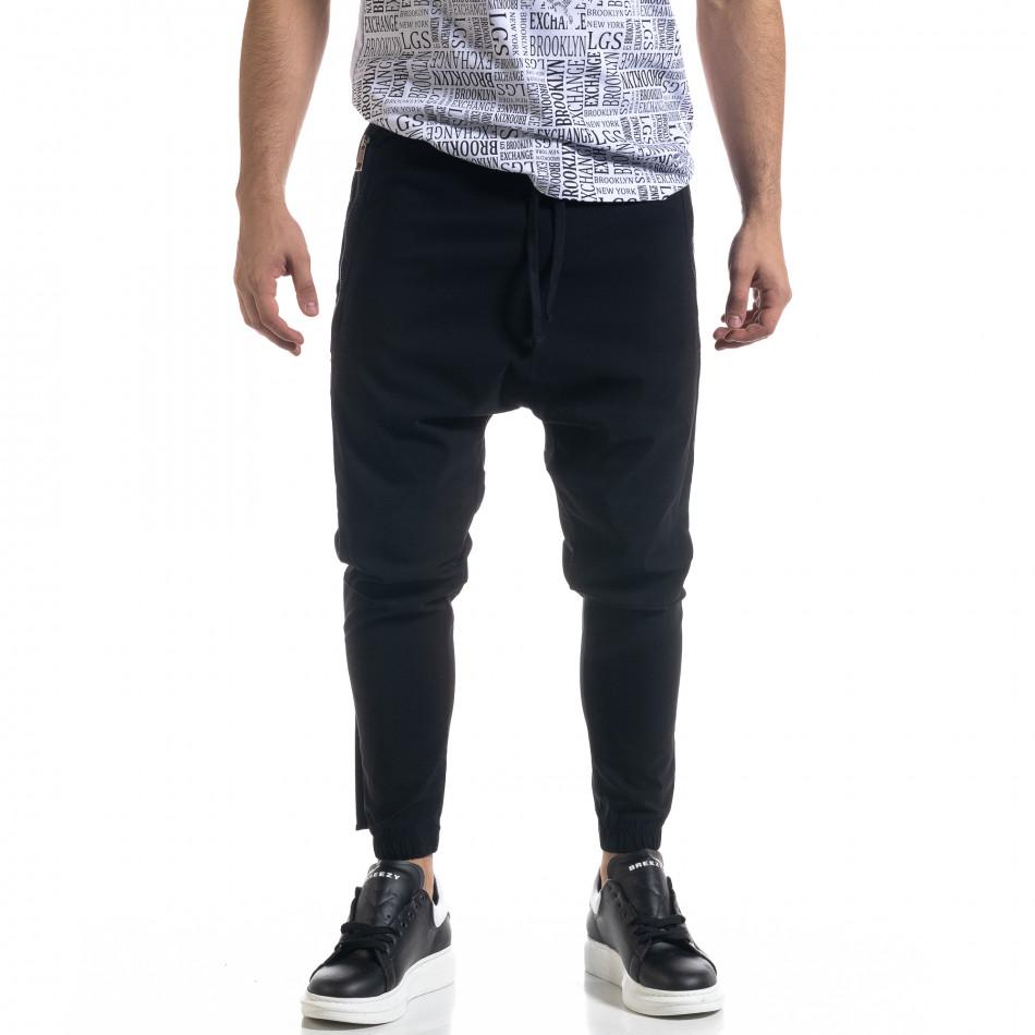 Ανδρικό μαύρο παντελόνι Open