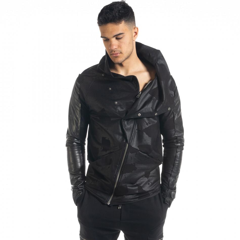 Ανδρικό μαύρο φούτερ 2Y Premium
