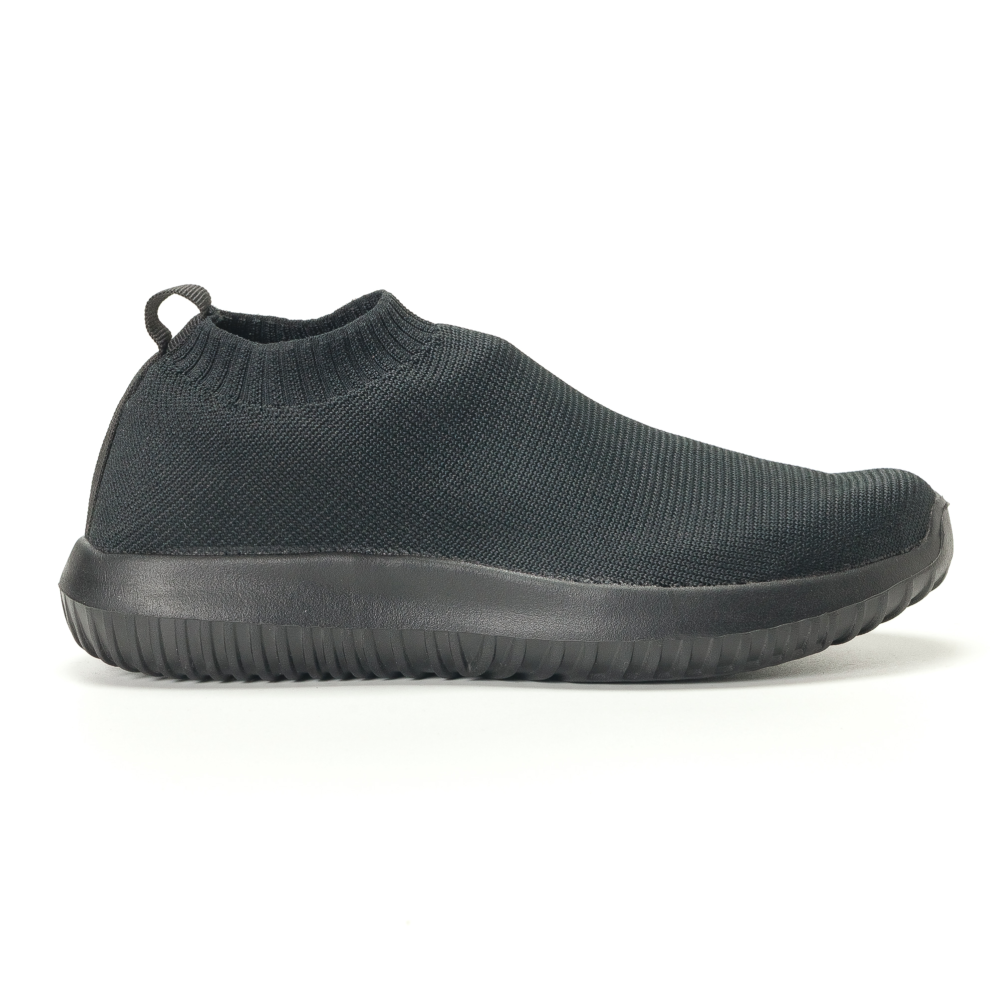Γυναικεία μαύρα υφασμάτινα αθλητικά παπούτσια χωρίς κορδόνια