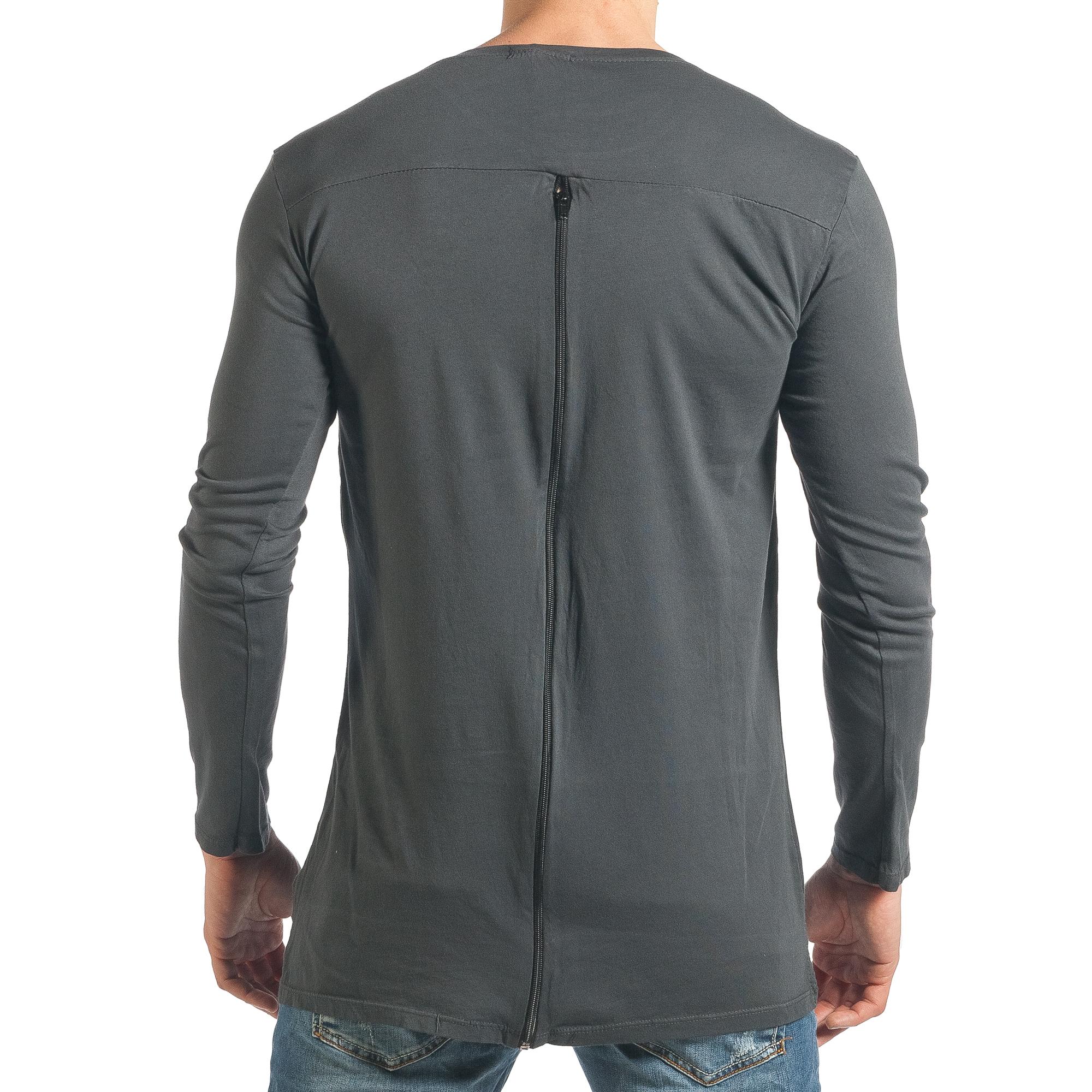 Ανδρική γκρι μπλούζα Duca Homme