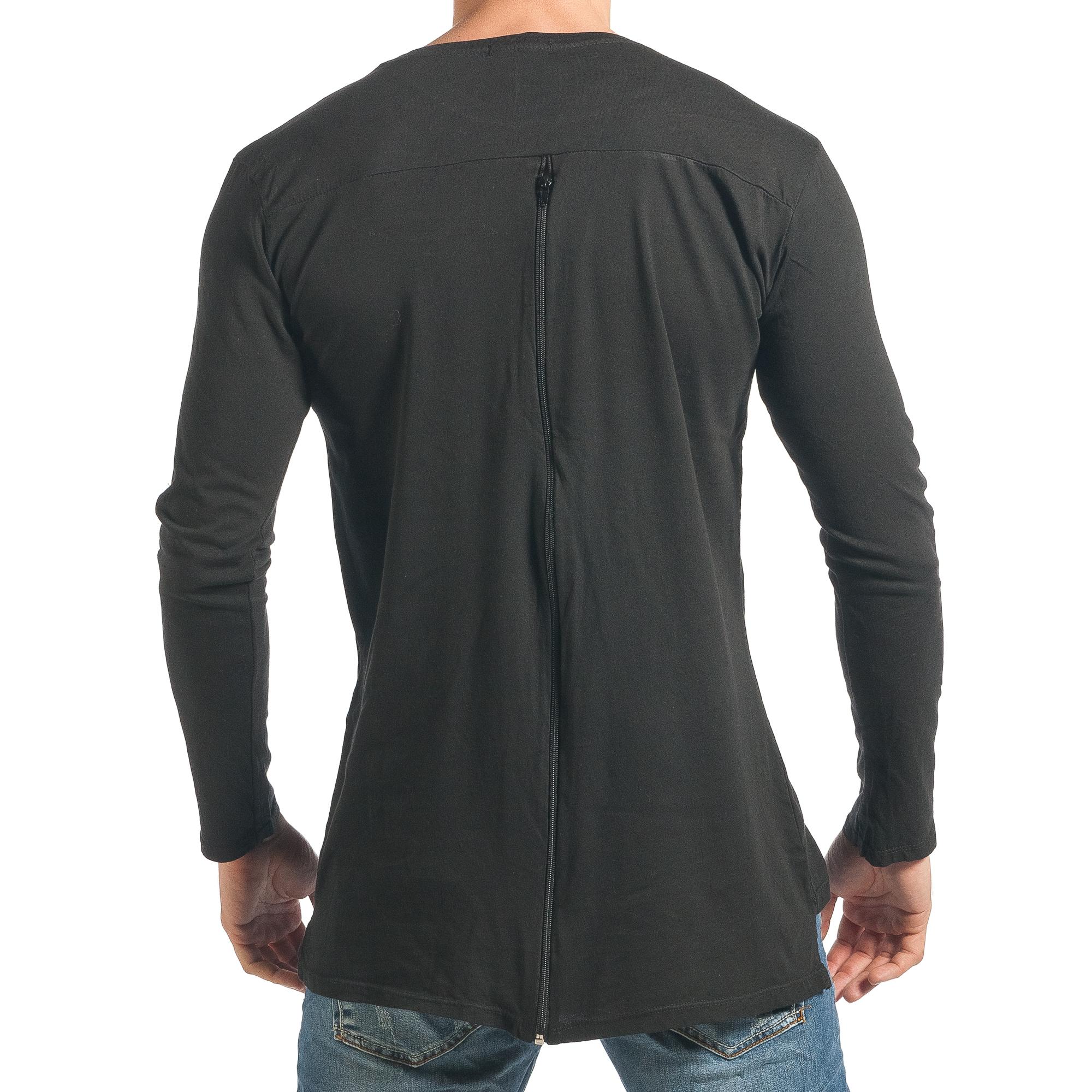 Ανδρική μαύρη μπλούζα Duca Homme