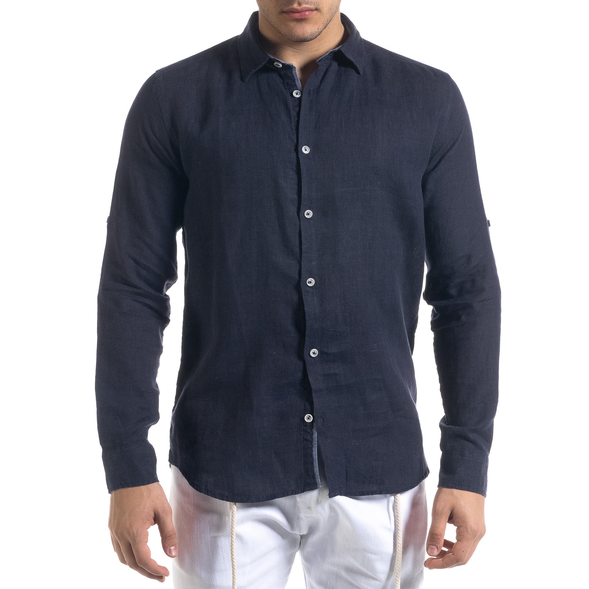 Ανδρικό μπλε πουκάμισο RNT23