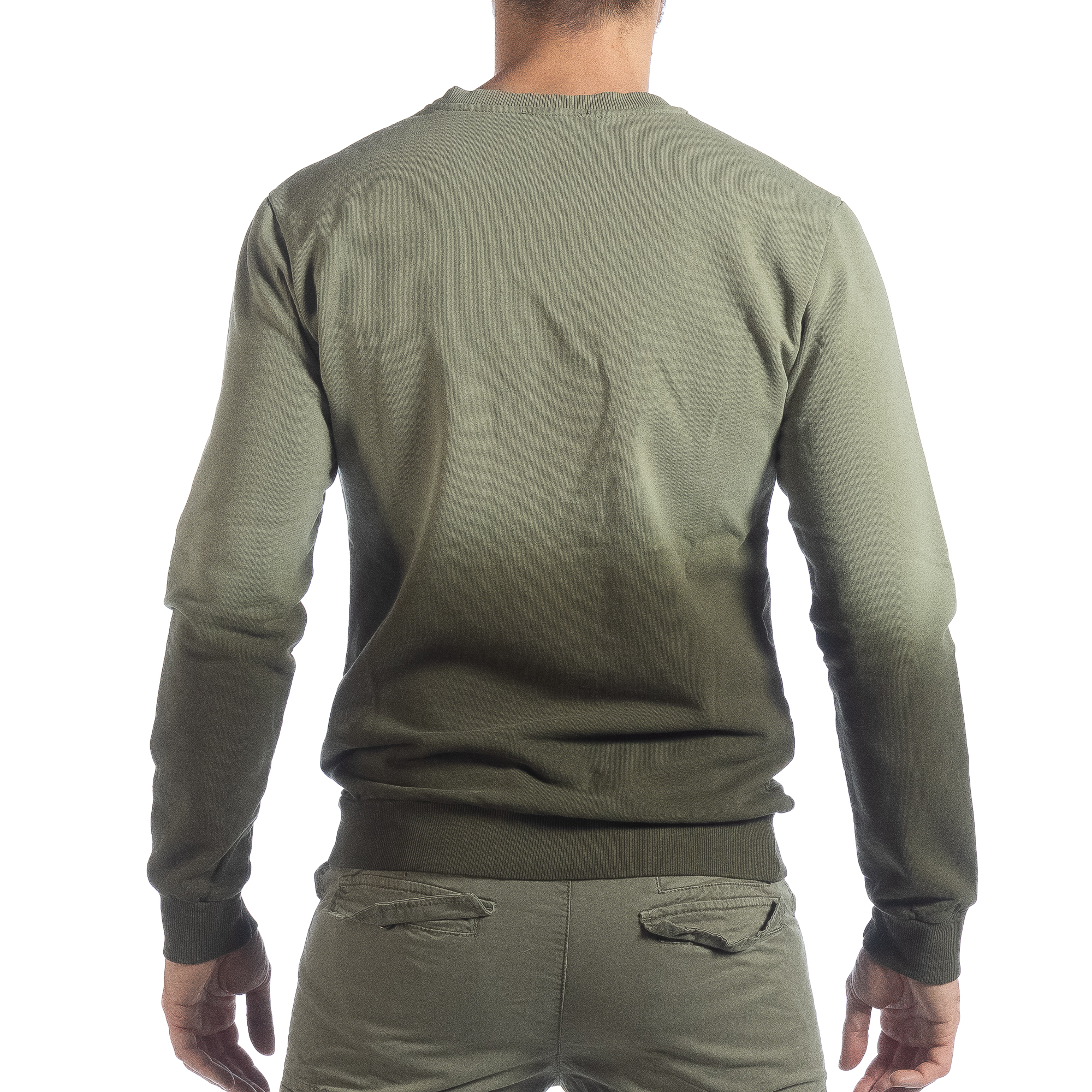 2a00ac53331c Ανδρική πράσινη μπλούζα με επένδυση