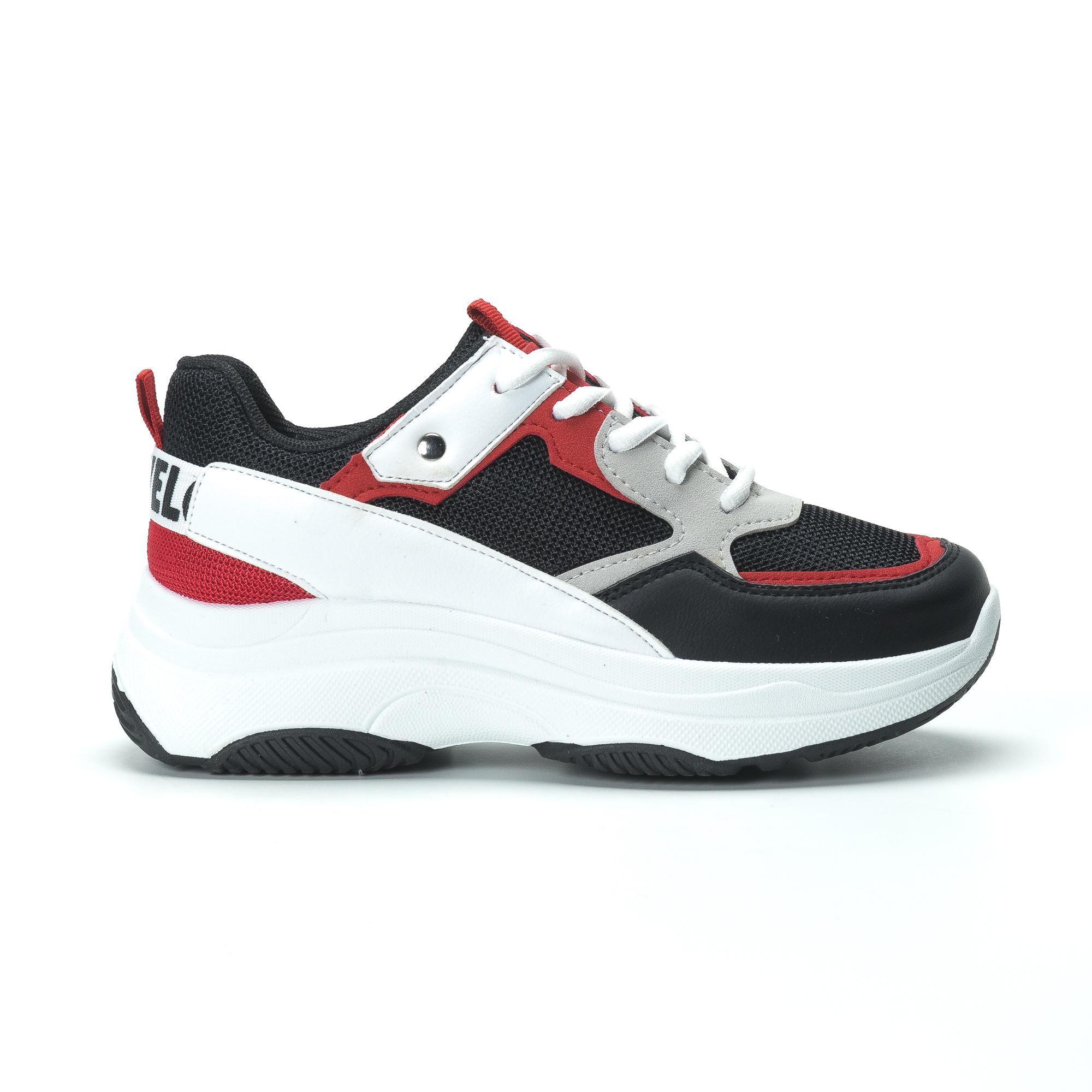 Γυναικεία sneakers από συνδυασμό χρωμάτων με πλατφόρμα a4532c49176