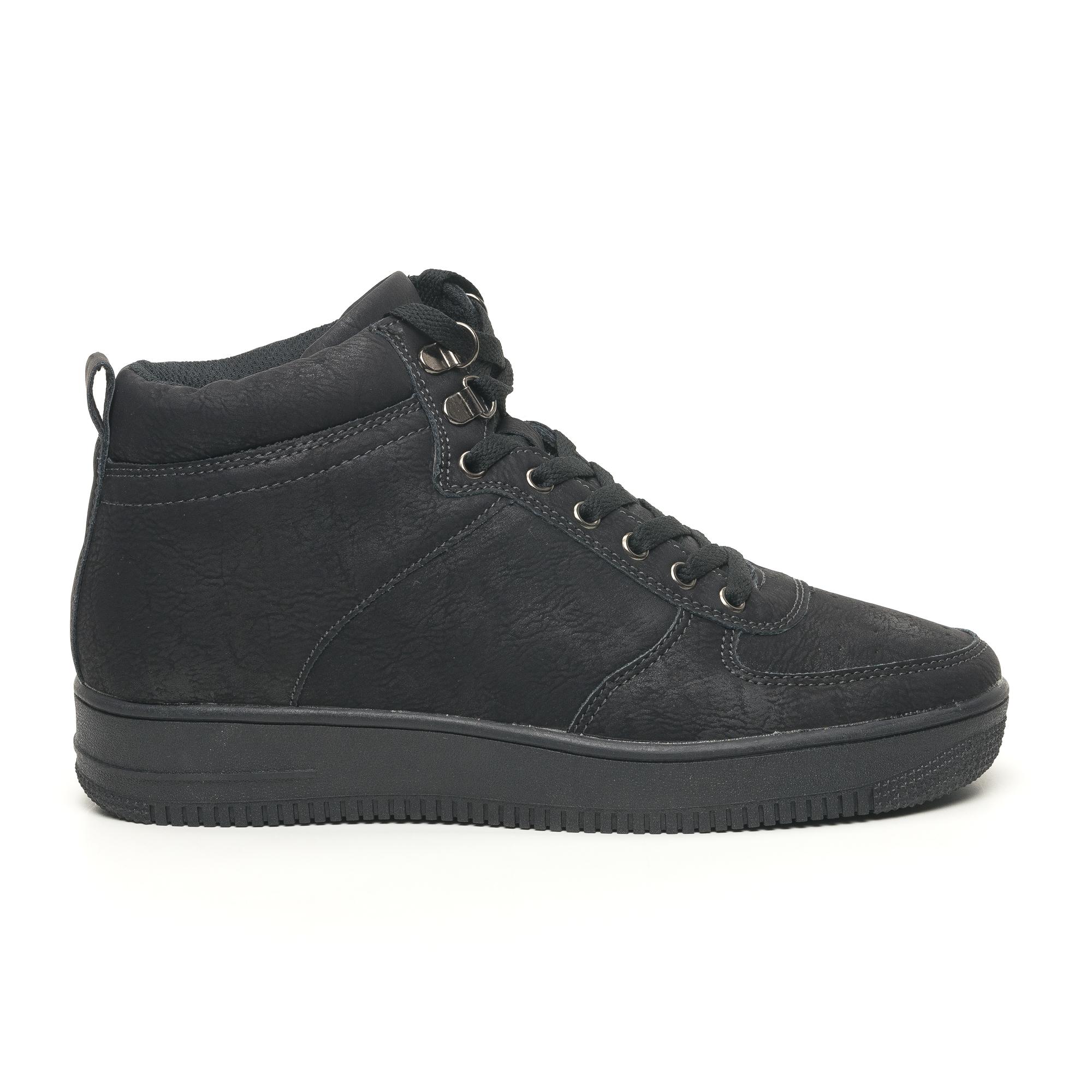 Ανδρικά ψηλά μαύρα sneakers τύπου μποτάκια