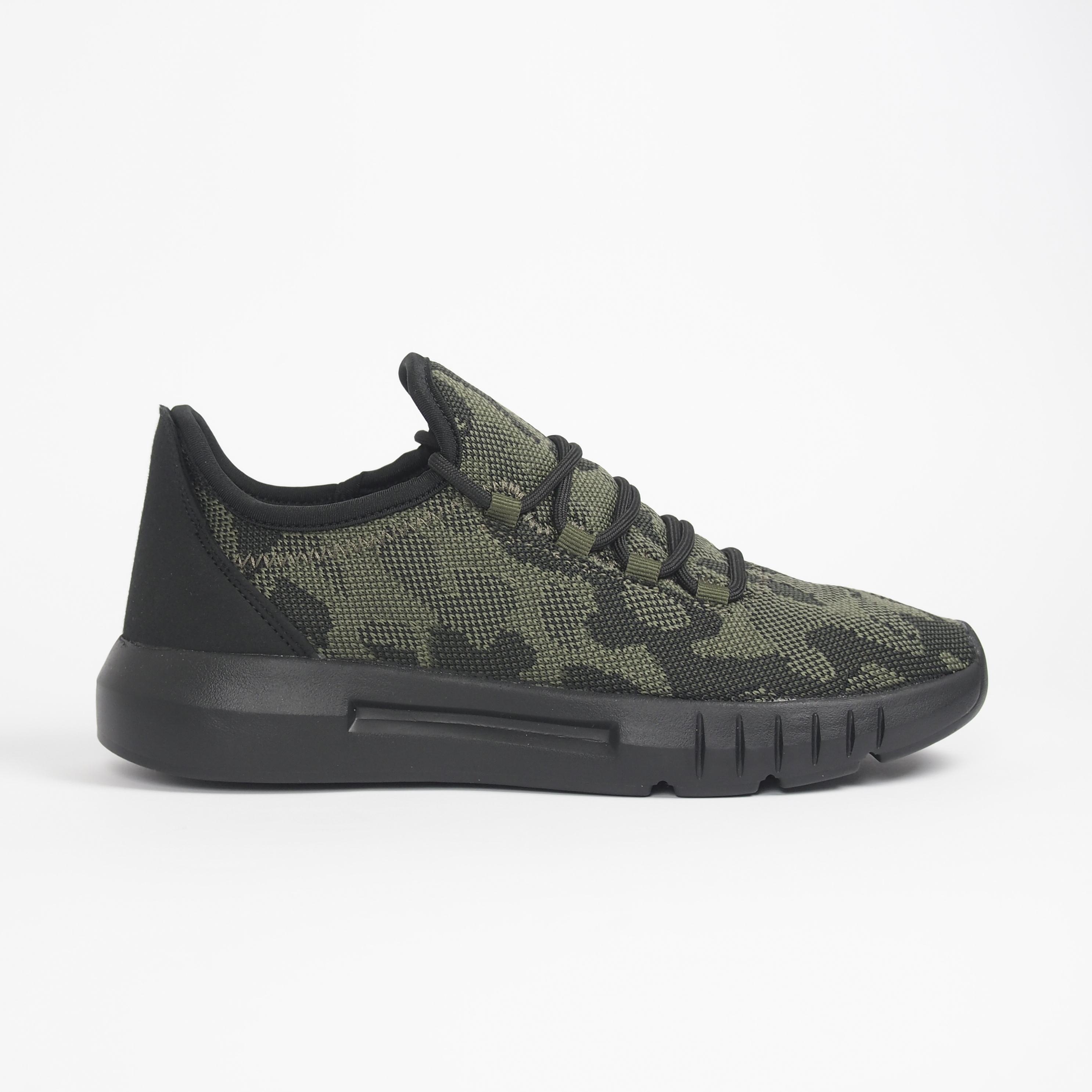 Ανδρικά πράσινα καμουφλαζ αθλητικά παπούτσια ελαφρύ μοντέλο