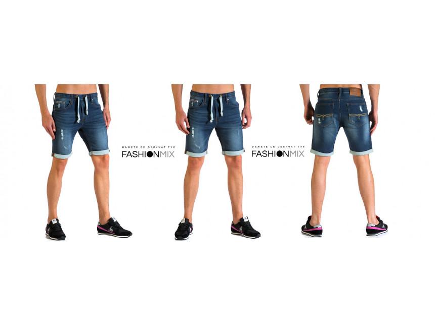 Мъжки къси дънки с удобството на спортни шорти от FASHIONMIX
