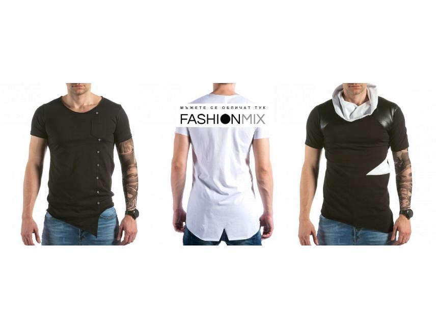 Мъжки асиметрични тениски през новия сезон пролет/лято 2015