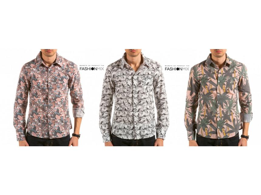 Луди принтове върху мъжките ризи пролет/лято 2015