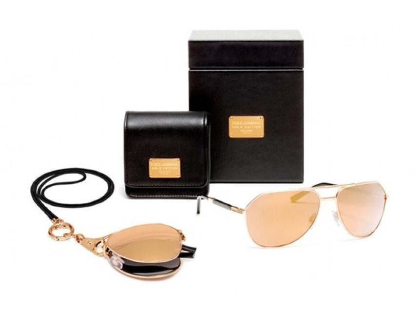 Златни слънчеви очила Dolce&Gabbana