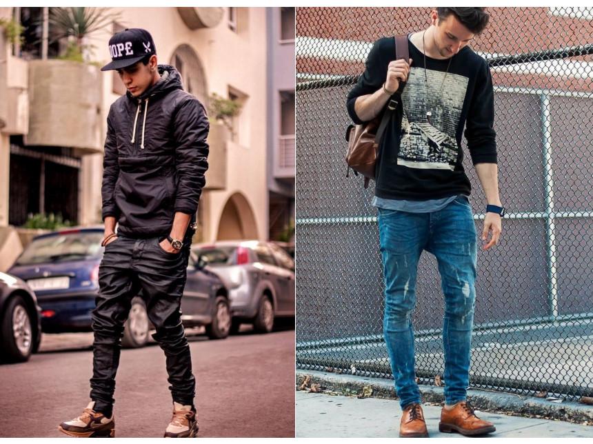 Уличният стил залага на мъжките дънки със смъкнато дъно за сезон зима 2014/2015