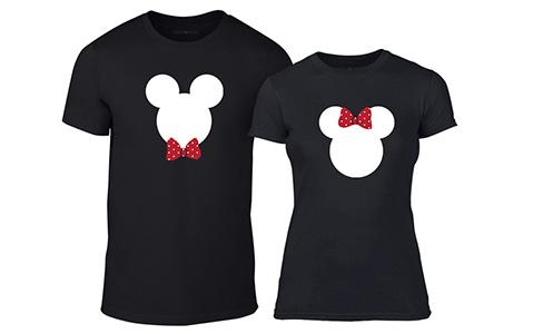 Тениски за двойки Mickey and Minnie